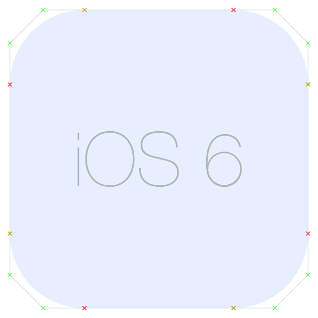 Rounded Corner Bezier Path on iOS 6