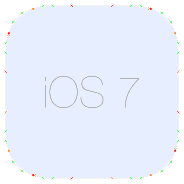 Rounded Corner Bezier Path on iOS 7
